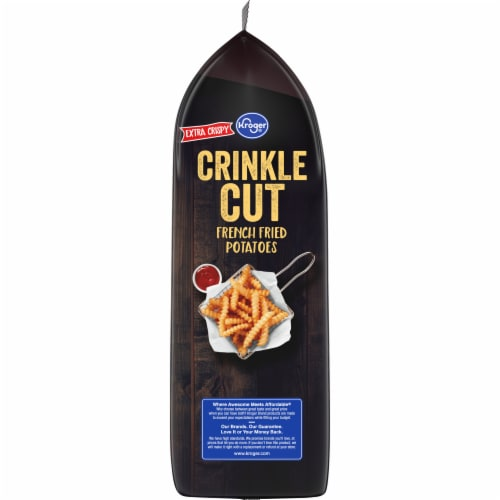 Kroger® Extra Crispy Crinkle Cut French Fries Perspective: left