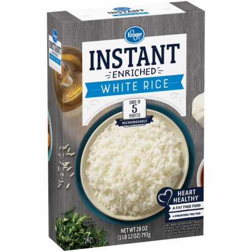 Kroger® Instant Microwaveable White Rice Perspective: left