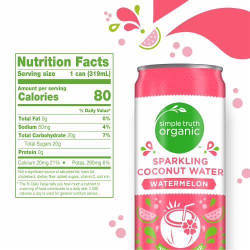 Simple Truth Organic™ Watermelon Sparkling Coconut Water Perspective: left