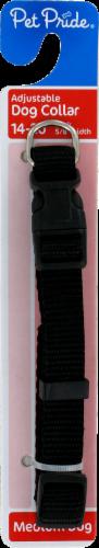 Pet Pride® Medium Black Adjustable Dog Collar Perspective: left