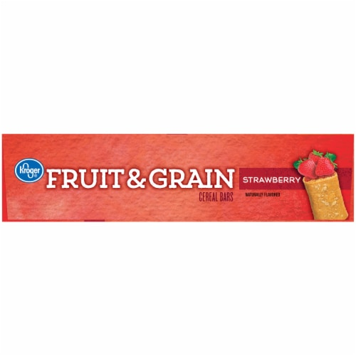 Kroger® Strawberry Fruit & Grain Cereal Bars Perspective: left