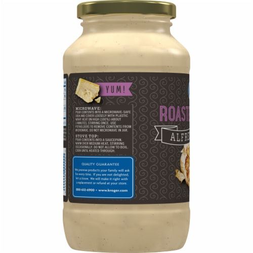 Kroger® Roasted Garlic Alfredo Sauce Perspective: left