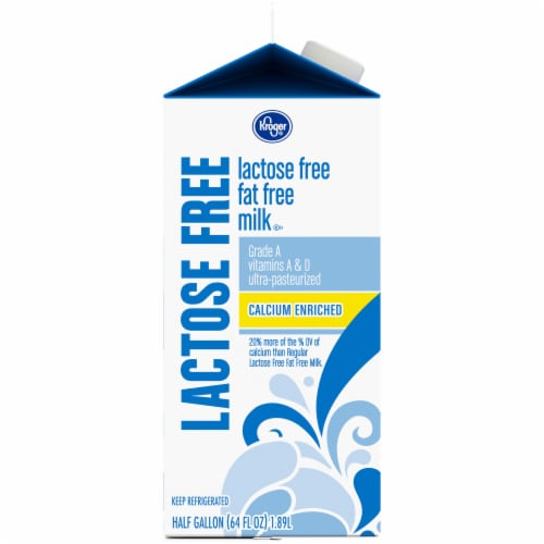 Kroger® Lactose Free Calcium Enriched Fat Free Milk Perspective: left