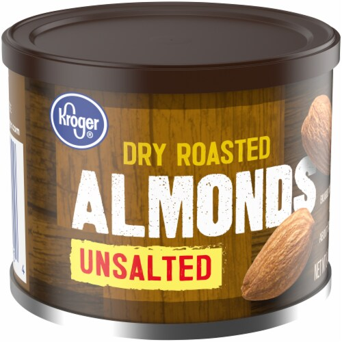 Kroger® Unsalted Dry Roasted Almonds Perspective: left
