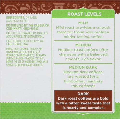 Simple Truth Organic® Dark Roast Coffee K-Cup Pods Perspective: left