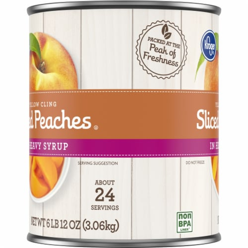 Kroger® Sliced Yellow Cling Peaches in Heavy Syrup Perspective: left