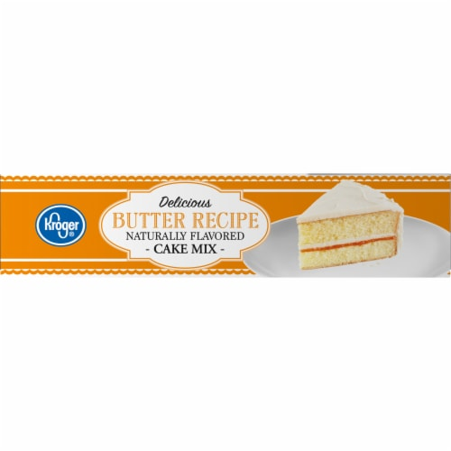 Kroger® Delicious Butter Recipe Cake Mix Perspective: left