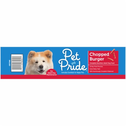 Pet Pride® Chopped Burger Adult Dry Dog Food Perspective: left