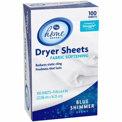 Kroger®  Blue Shimmer Scented Fabric Softening Dryer Sheets Perspective: left