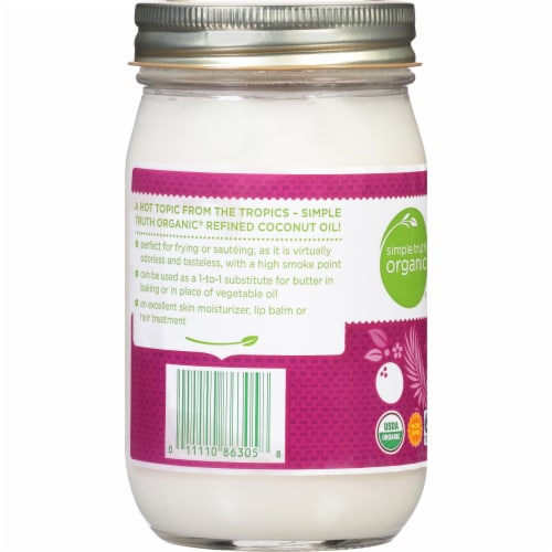 Simple Truth Organic® Refined Expeller Pressed Coconut Oil Perspective: left