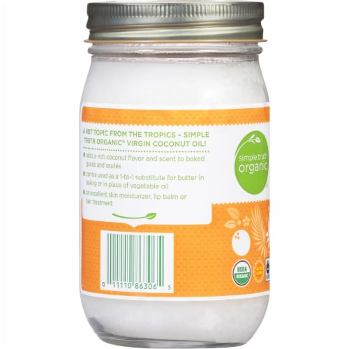 Simple Truth Organic Unrefined Cold Pressed Virgin Coconut Oil Perspective: left