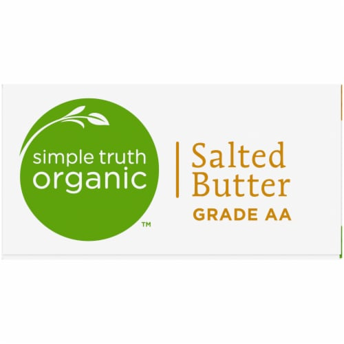 Simple Truth Organic™ Grade AA Salted Butter Perspective: left