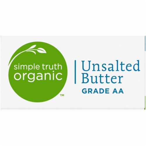Simple Truth Organic™ Grade AA Unsalted Butter Quarters Perspective: left