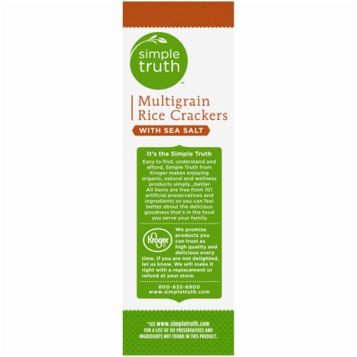Simple Truth® Gluten Free Multigrain with Sea Salt Rice Crackers Perspective: left