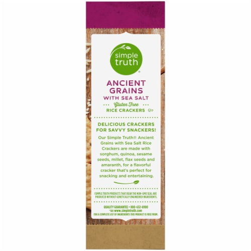 Simple Truth® 7 Ancient Grains Rice with Sea Salt Crackers Perspective: left