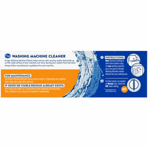 Kroger® Standard & HE Washing Machine Cleaner Pouches Perspective: left