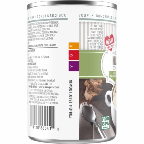 Kroger® Reduced Sodium Cream of Mushroom Condensed Soup Can Perspective: left