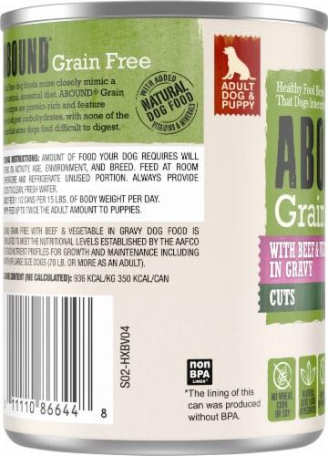 Abound™ Grain Free Beef & Vegetable Cuts in Gravy Wet Dog Food Perspective: left