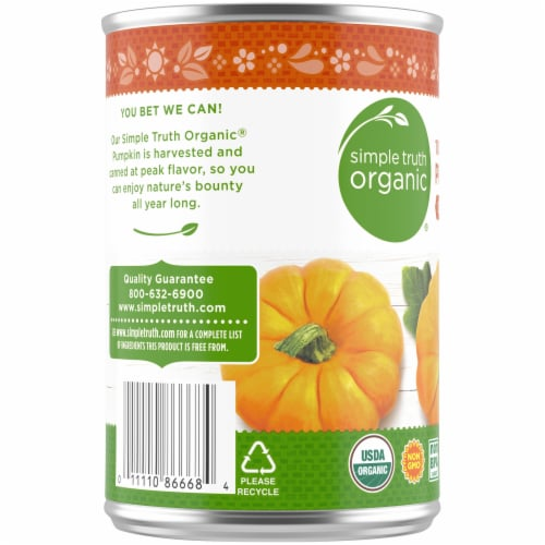 Simple Truth Organic® 100% Pure Solid Packed Pumpkin Perspective: left