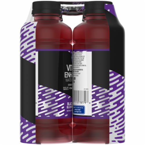 Kroger® Black Blueberry Vitamin Enhanced Zero Calorie Water Beverage Perspective: left