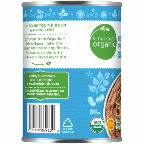 Simple Truth Organic® Fat Free Refried Pinto Beans Perspective: left