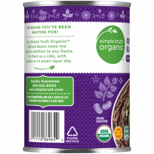 Simple Truth Organic® Fat Free Refried Black Beans Perspective: left