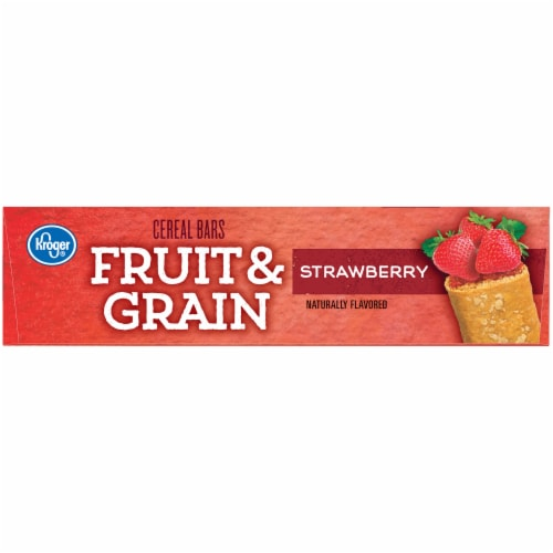 Kroger® Fruit & Grain Strawberry Cereal Bars Perspective: left