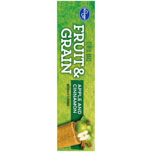 Kroger® Fruit & Grain Apple & Cinnamon Cereal Bars Perspective: left
