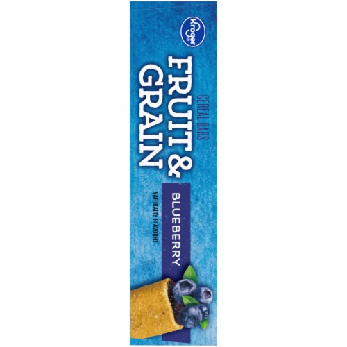Kroger® Fruit & Grain Blueberry Cereal Bars Perspective: left