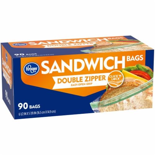 Kroger® Double Zipper Sandwich Bags Perspective: left