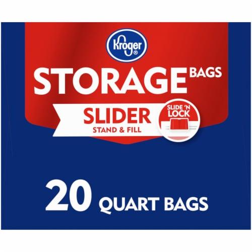 Kroger® Slide 'N Lock Quart Storage Bags Perspective: left