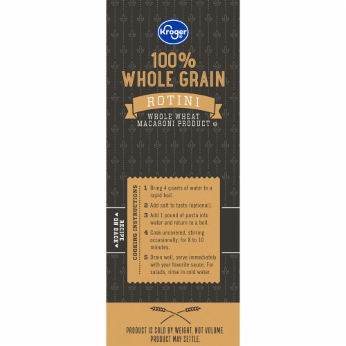 Kroger® 100% Whole Grain Salad Rotini Pasta Perspective: left