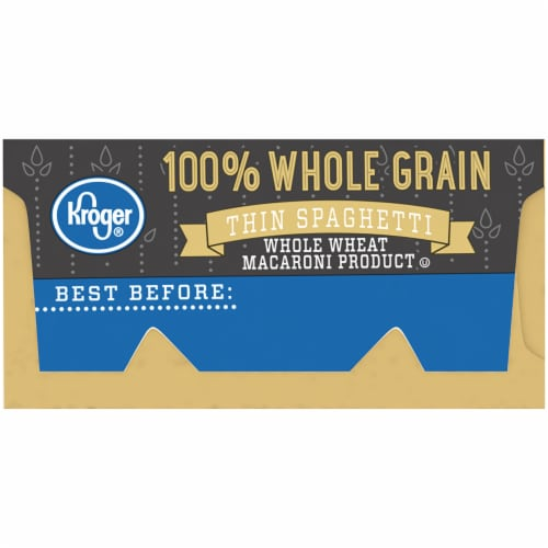 Kroger® 100% Whole Grain Thin Spaghetti Perspective: left