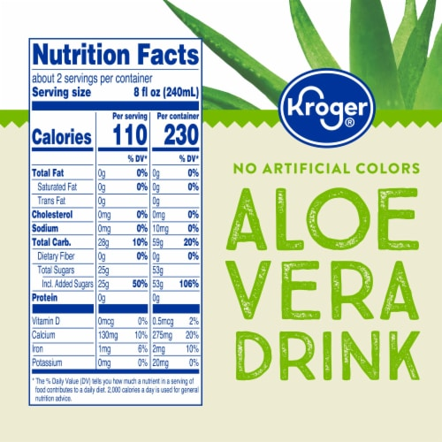 Kroger® Lime Flavor Aloe Vera Juice Drink Perspective: left