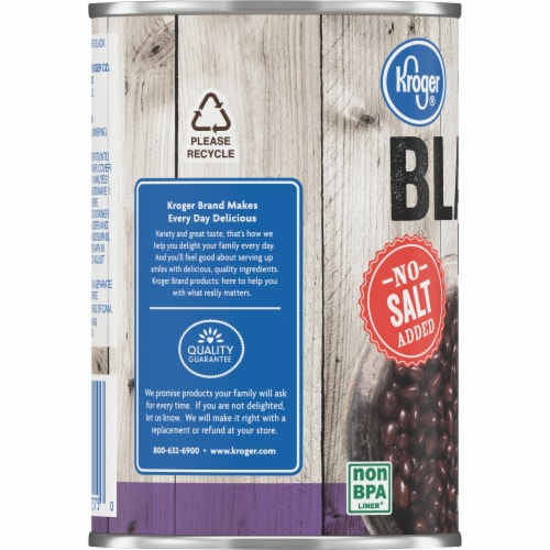Kroger® No Salt Added Black Beans Perspective: left