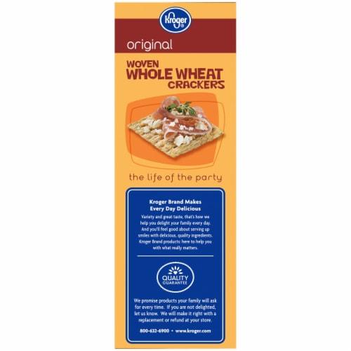 Kroger® Original Woven Whole Wheat Crackers Perspective: left
