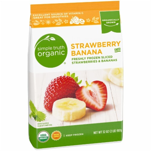 Simple Truth Organic® Frozen Sliced Strawberries & Bananas Perspective: left