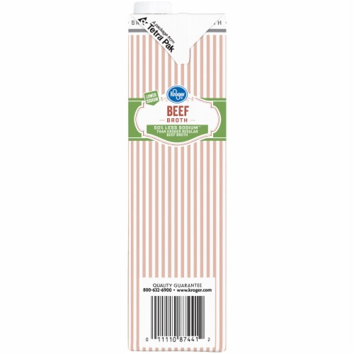 Kroger® Reduced Sodium Beef Broth Perspective: left