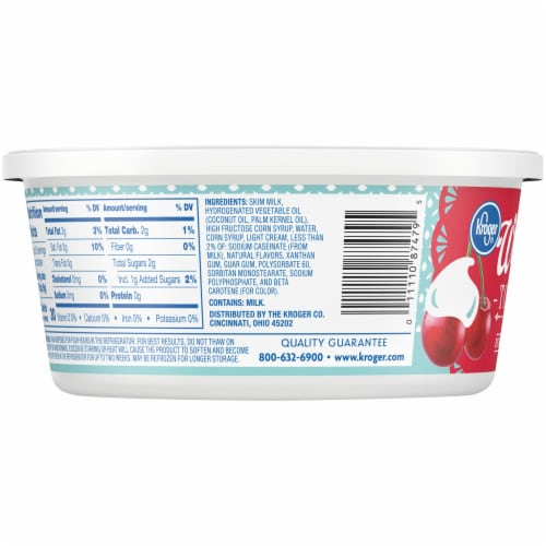 Kroger® Extra Creamy Whipped Topping Tub Perspective: left