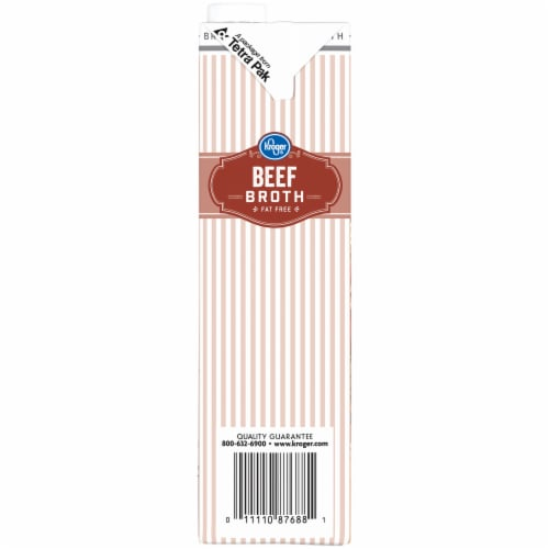 Kroger® Fat Free Beef Broth Perspective: left