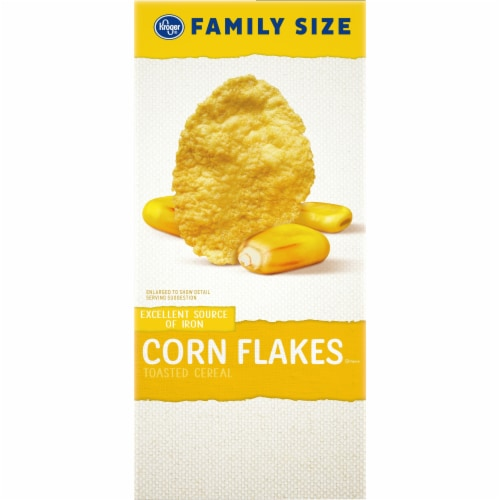 Kroger® Corn Flakes Cereal Family Size Perspective: left