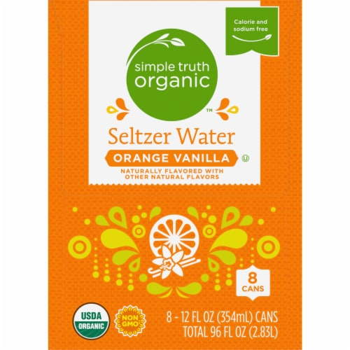 Simple Truth Organic™ Orange Vanilla Seltzer Water Perspective: left