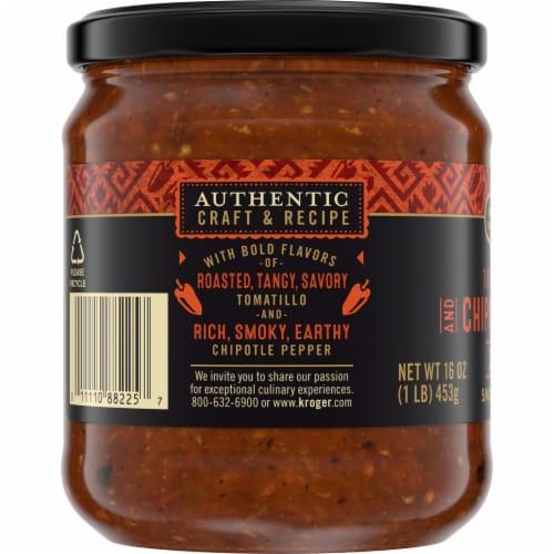 Private Selection™ Medium Tomatillo & Chipotle Pepper Salsa Perspective: left