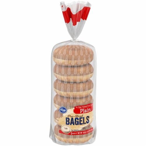 Kroger® Plain Pre-Sliced Bagels Perspective: left