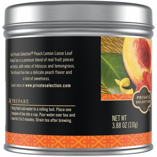 Private Selection® Peach Lemon Loose Leaf Herbal Tea Perspective: left