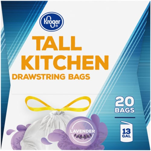 Kroger® Tall Kitchen Lavender Scented 13 Gallon Drawstring Bags Perspective: left