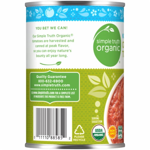 Simple Truth Organic™ No Salt Added Crushed Tomatoes Perspective: left