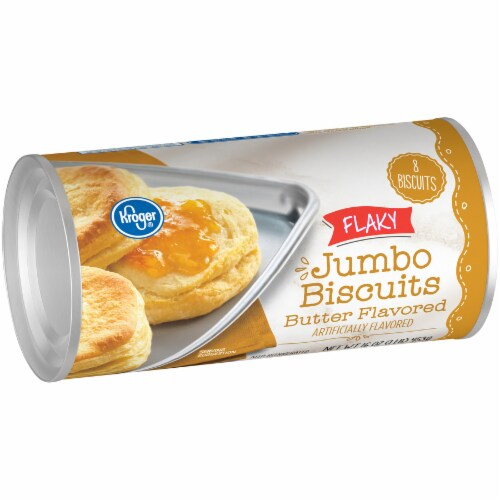 Kroger® Flaky Butter Flavored Jumbo Biscuits 8 Count Perspective: left