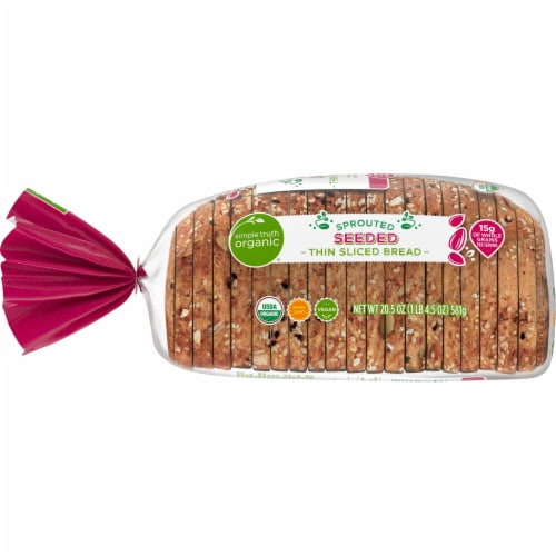 Simple Truth Organic™ Sprouted Seeded Thin Sliced Bread Perspective: left