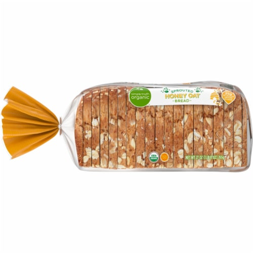 Simple Truth Organic™ Sprouted Honey Oat Bread Perspective: left